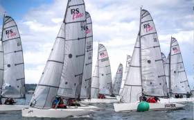 At the RS Elite Irish Championships there was strong competition on the start line of a 16–strong fleet