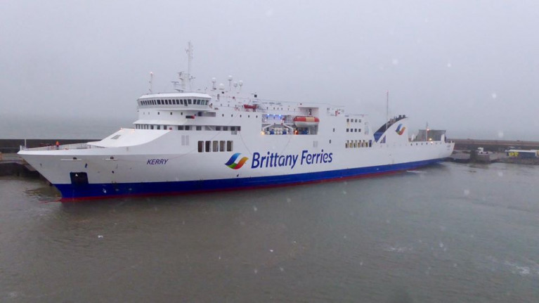 Due to COVID-19 there is further widespread travel disruption and cancellations with changes to Brittany Ferries schedules on Ireland-France and Ireland-Spain routes and notably that the new Rosslare-Roscoff route will not open on 23 March, which Irish Ferries withdrew the seasonal service last year. AFLOAT also adds the ropax ferry Kerry berthed at Rosslare Europort for the first time (as when seen last month) prior to its maiden voyage to Spain and from the ferry returned this afternoon to the Wexford port with the last 'passengers' to use the service before it becomes freight-only.