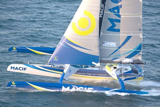 Macif skipper François Gabart who is now just over 450nm away from the finish line