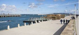 An artist's impression of the urban beach for Dun Laoghaire