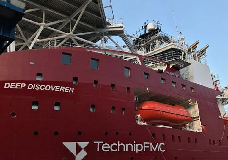 Diver operations will be conducted by the dive support vessel Deep Discoverer