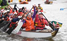 "Liffey ""All in a Row"" Challenge Raises Funds for RNLI Lifeboats & Irish Underwater Search & Recovery"
