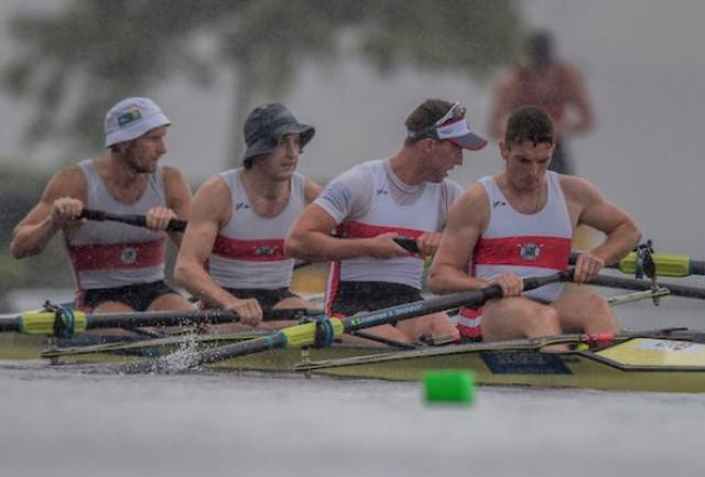 The Skibbereen four at the New Zealand Championships