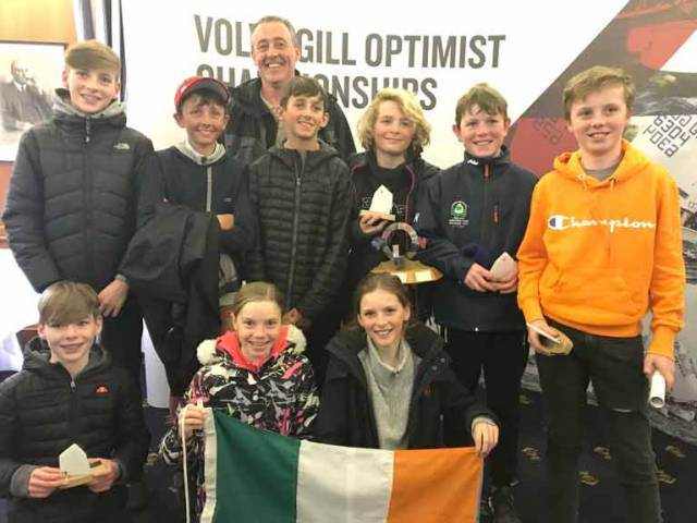 Top Results for Team Ireland Optimist Sailors at British Spring Championships