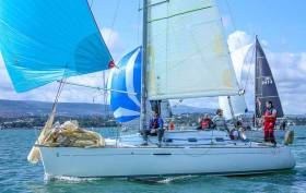 Levana skippered by Jean Mitton competed in the Beneteau 31.7 class race that featured a 100% turnout to mark the last DBSC Thursday Race of 2018
