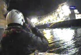 Larne RNLI Launch for Medical Evacuation of Casualty From Bulk Carrier
