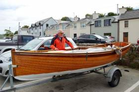 Hal Sisk with his Water Wag dinghy 'Good Hope'