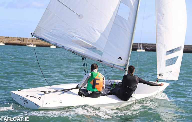 Racing in Flying Fifteens at the Dun Laoghaire Harbour based 2019 All Ireland Sailing Championships