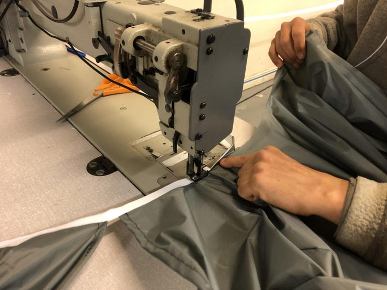 PPE sewing at Marshall Marine Textiles