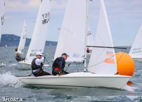 David Gorman and Chris Doorly lead the Flying Fifteens at Dun Laoghaire