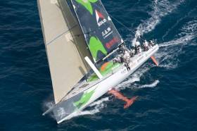 Green Dragon's Irish-Chinese yacht competing in the 2008-2009 Volvo Ocean Race