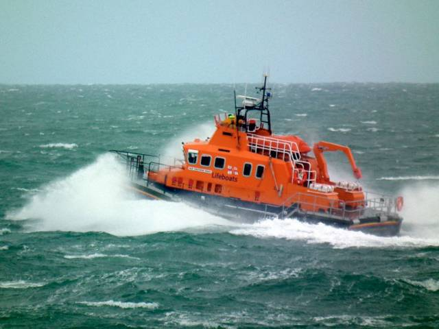 Holyhead RNLI's all-weather lifeboat Christopher Pearce