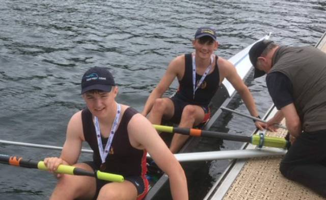 Peter Murphy and Sam Balcombe who took bronze for Enniskillen at Dorney Lake