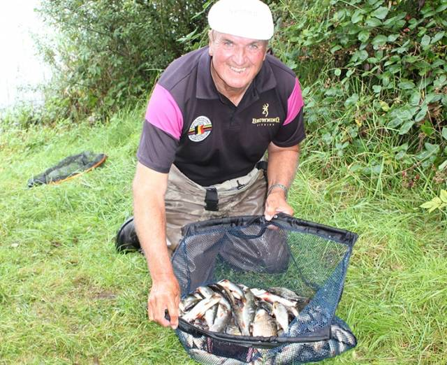 Former World Champion Bob Nudd with his catch from Day one of the Lakelands & Inland Waterways World Pairs