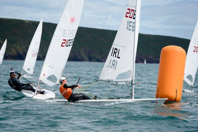 Johnny Durcan competing in day three of the Laser Nationals at Royal Cork Yacht Club. Scroll down for a gallery of photos of today's action