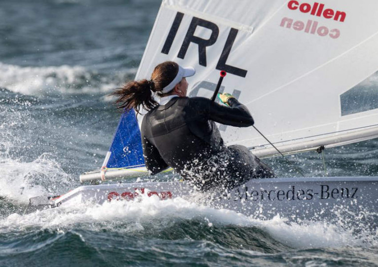 Annalise Murphy made the most of the strong winds in Melbourne to claim victory in race 3