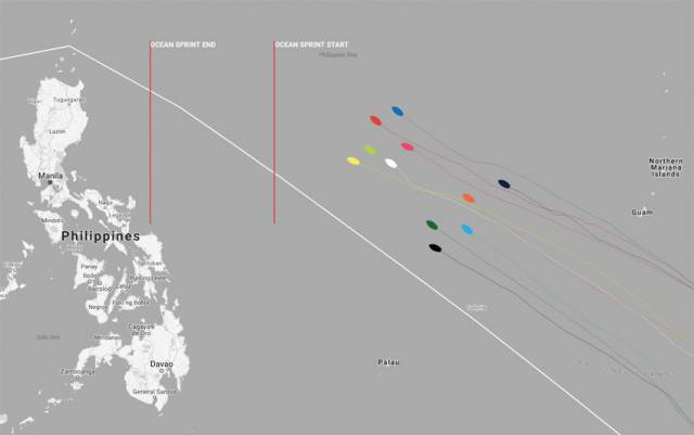 The fleet positions as of noon Irish time/UTC on Wednesday 14 February