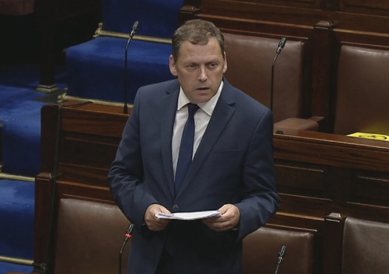 Marine Minister Barry Cowen pictured in the Dáil