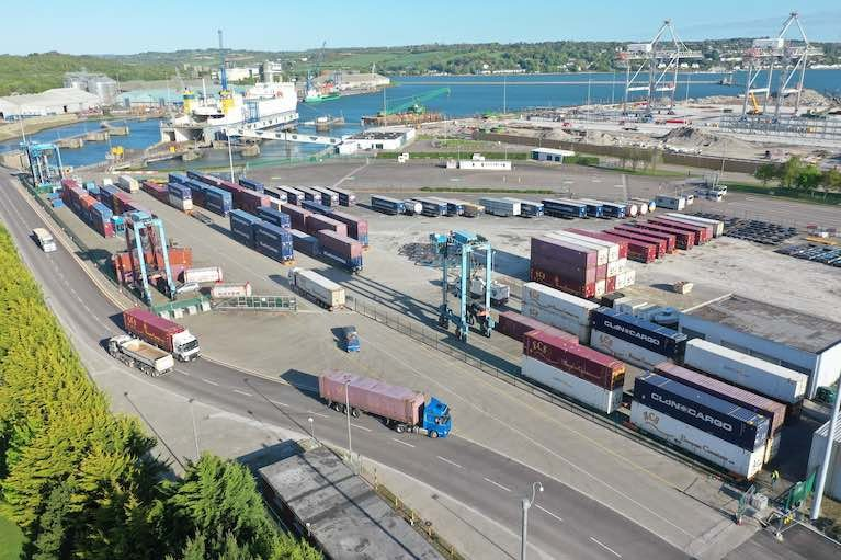 CLdN Freight Compound at Ringaskiddy in the Port of Cork
