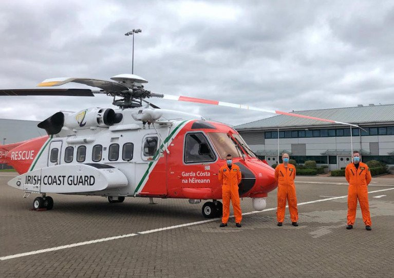 Rescue 117 and crew at RAF Northolt