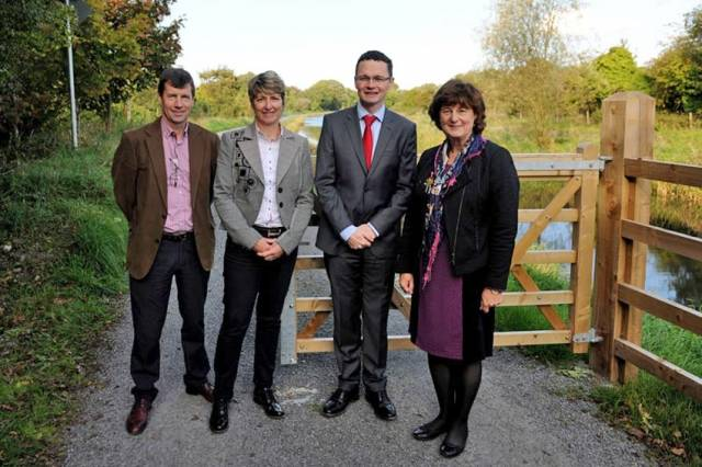 Launching the extension of the Royal Canal Greenway in Co Westmeath on Friday 7 October