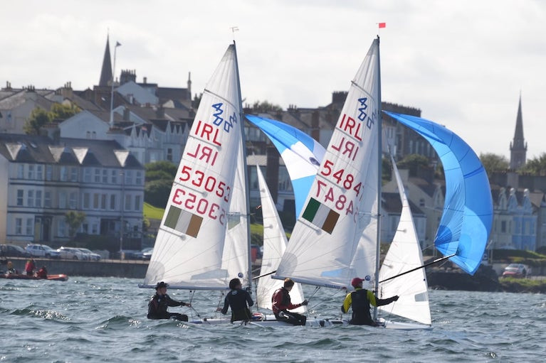 Ben Graf & Alexander Farrell from Lough Ree Crowned 420 Champions at RYA NI Youth Event