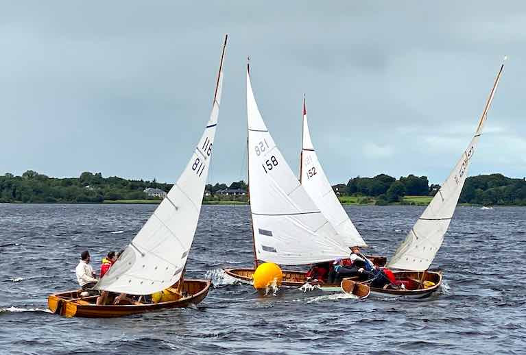 After weeks of preparation to be COVID-compliant, Lough Ree Yacht Club's Quarter Millennial Regatta is finally under way with 25 Shannon One Designs and other classes racing