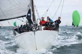 Dun Laoghaire Dingle Race winner, Paul O'Higgins's Rockabill VI from the Royal Irish Yacht Club, leads the ICRA Boat of the Year points series at the halfway stage