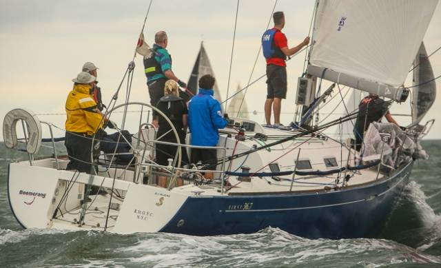 James Kirwan's Beneteau 36.7 was second in class one ECHO at today's Taste of Greystones Regatta