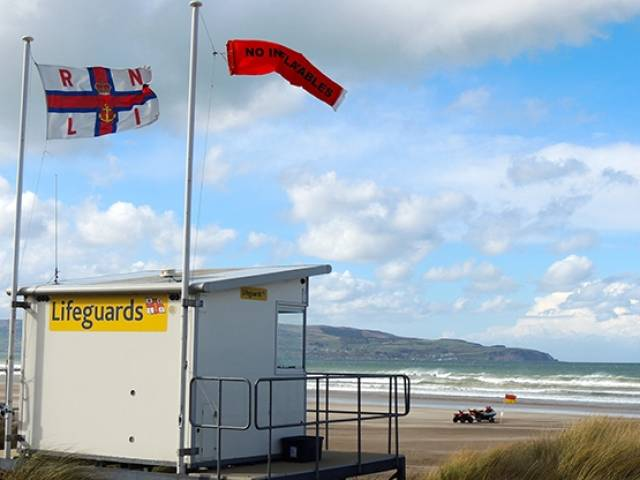 RNLI beach lifeguard unit on Benone Strand has been vandalised again
