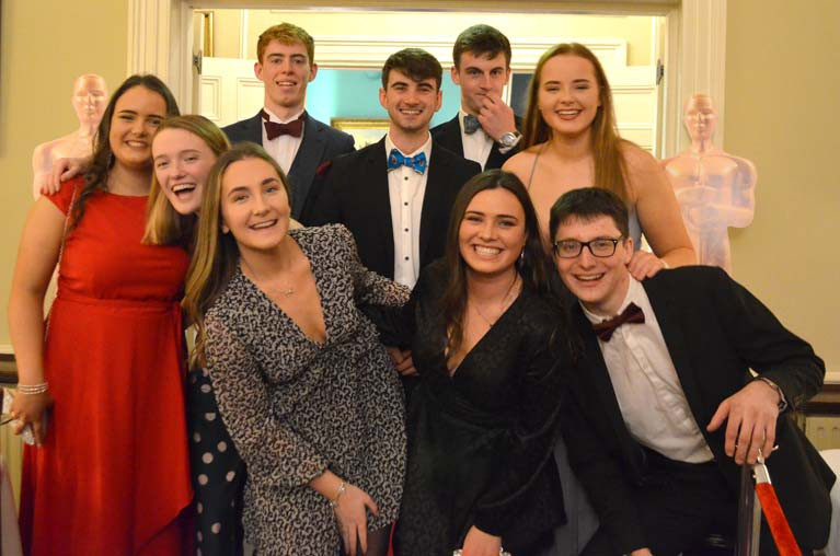 Royal St. George Under 25 sailors celebrate at Oscars night in the club