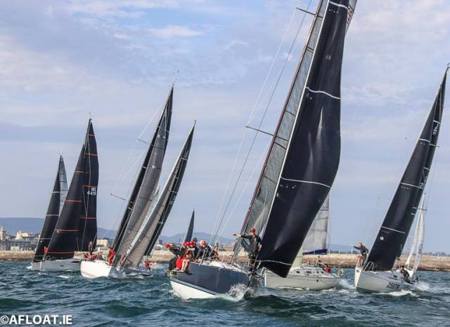 The ISORA race start at Dun Laoghaire Harbour