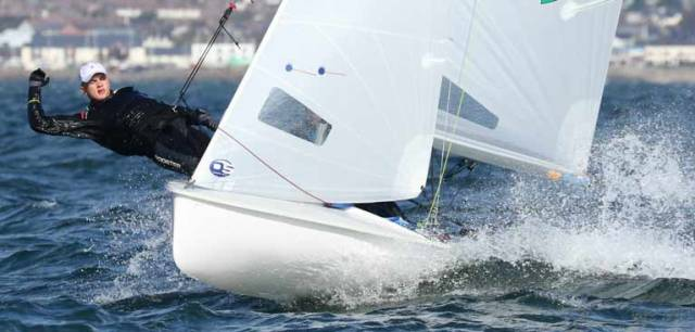 Morgan Lyttle and Patrick Whyte were 420 winners on Belfast Lough