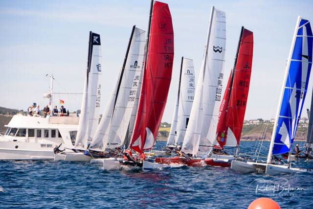 The Multihull National Championships are being raced as part of Dinghyfest 2019 at Royal Cork. Scroll down for photo gallery