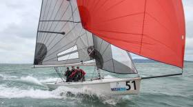 SB20 sailing on Dublin Bay. The class dinner is being held at the RIYC this Friday