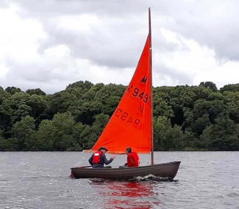 Jonny Clements new dinghy