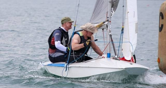 Dun Laoghaire Fireballers Frank Miller and Grattan Donnelly are third overall at the Fireball Nationals in Howth