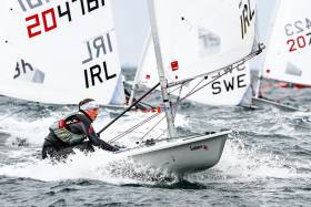 Irish youth sailors competing in Kiel at the U21 World Championships
