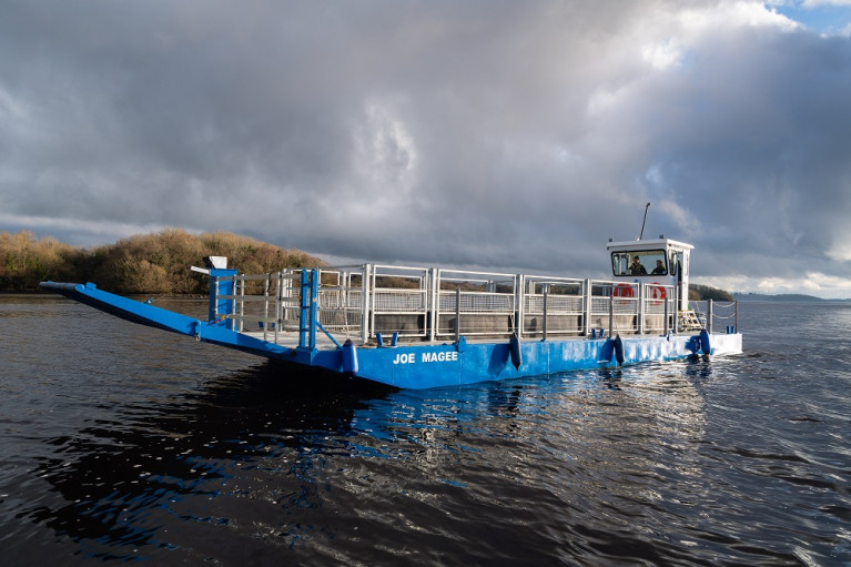 The reconfigurable livestock lake-boat named Joe Magee was delivered to Northern Ireland's RSPB. AFLOAT adds the 15-metre custom-made cot for use on Lower Lough Erne, weighs 14 tonnes and was built by Mainstay Marine Solutions based in Pembroke Dock, south Wales.