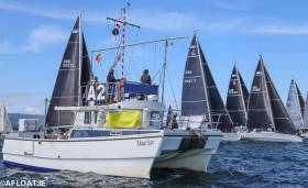 A clean Class One start at Volvo Dun Laoghaire Regatta under International Race Officer Bill O'Hara from Ballyholme Yacht Club on Belfast Lough. As well as being an Olympic sailor himself, O'Hara has officiated at the Volvo Ocean Race and the Olympic Games