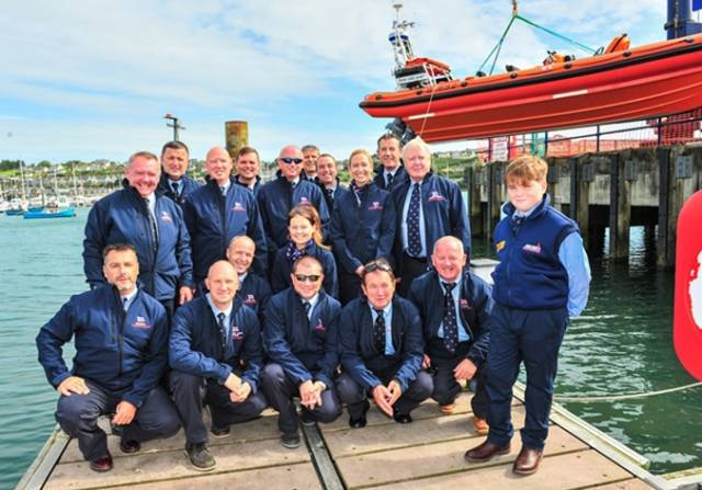 Paddy Crowley with the RNLI Crosshaven crew