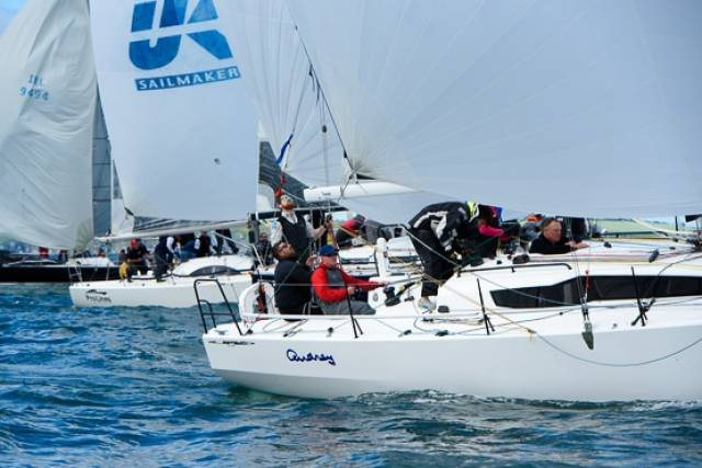 Leaders are emerging after seven races sailed at the IRC European Championship at Cork Week. Scroll down to the bottom of the report for photo gallery