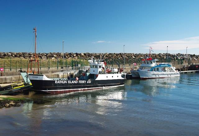 At 40 years old the Canna, the current car ferry serving Rathlin Island from Ballycastle, Co. Antrim and passenger-only route partner, Rathlin Express