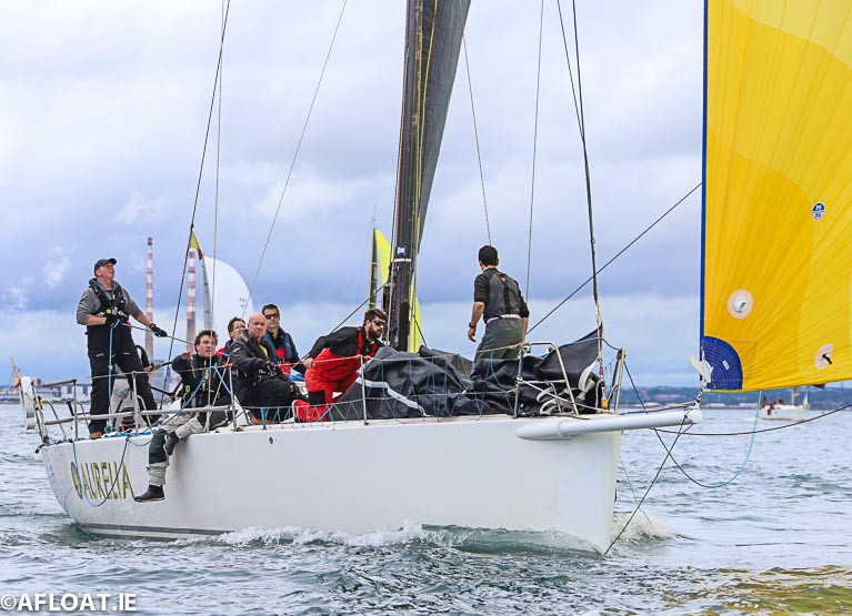 Chris and Patanne Smith's J122 Aurelia from the Royal St George Yacht Club was the line honours night race winner