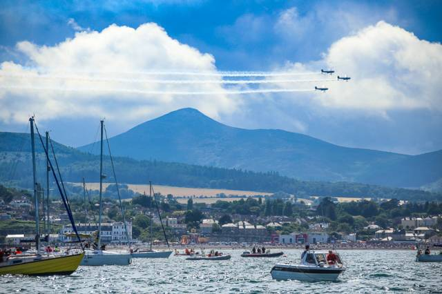 Bray Air Show Draws The Boats – Fleet of 200 Gather For Spectacular Display off Wicklow Coast