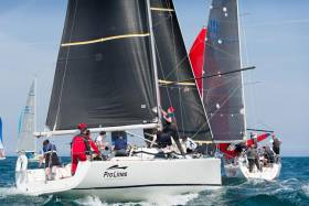 Rob McConnell's Fool's Gold from Waterford Harbour intends using Howth Yacht Club's Wave Regatta as a final preparation for IRC European Championships at Cowes