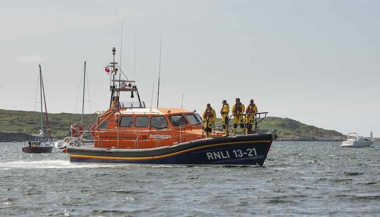 The RNLI All weather boat at Clifden