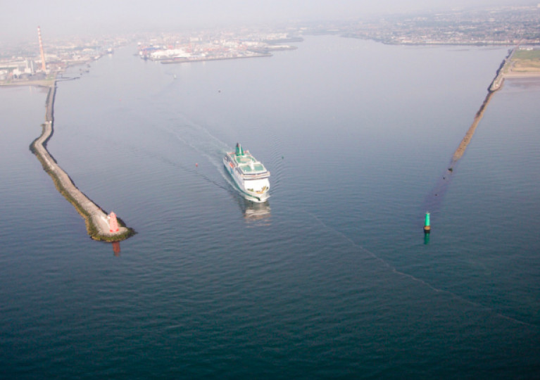 Around 150,000 trucks use the British landbridge, which is regarded as the fastest means of transporting goods by truck to the main European markets. Above Afloat adds a ferry departs Dublin Port bound for Holyhead, the UK's second busiest ferryport after Dover.