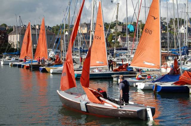 Kinsale Yacht Club has a strong Squib fleet