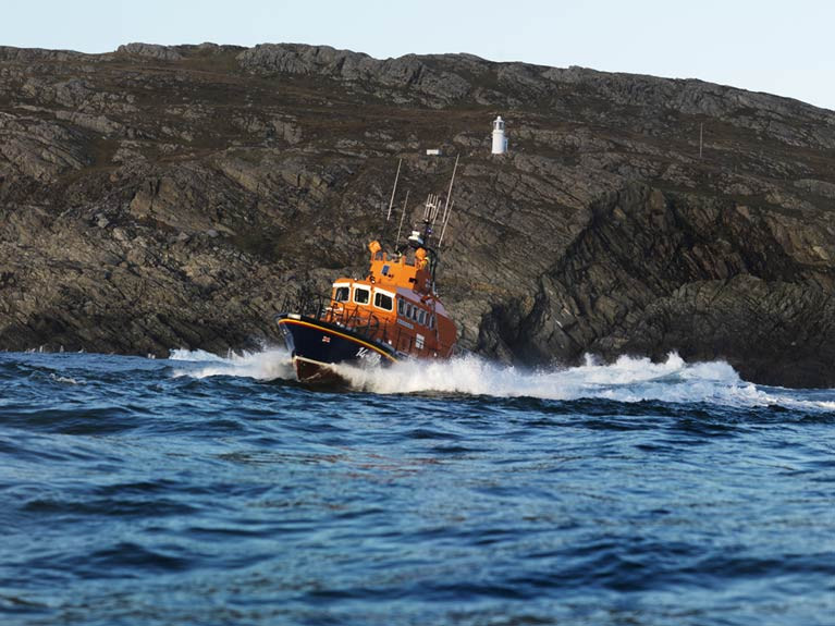 RNLI all-weather Achill lifeboat in Co Mayo
